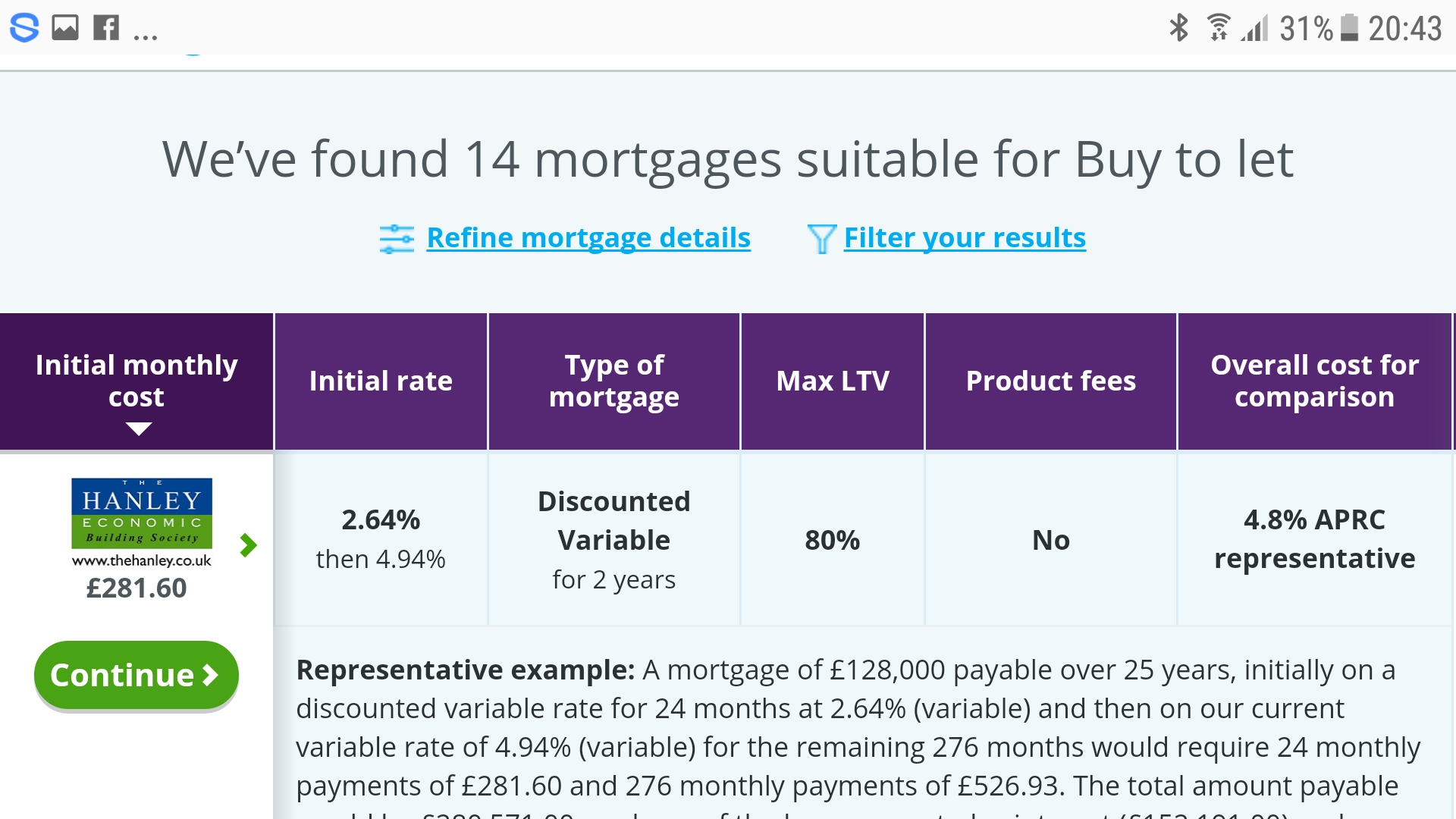 Best fixed rate mortgage deals 80 ltv