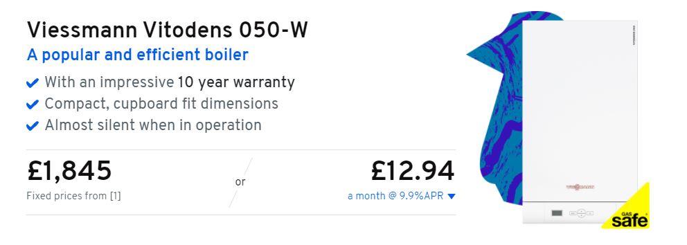 Viessmann vitodens 050-W price heatable